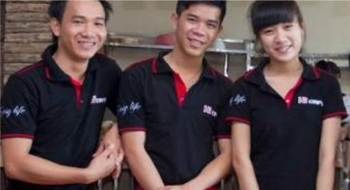 may đồng phục nhà hàng bình dương, áo thun quán cafe, quán ăn